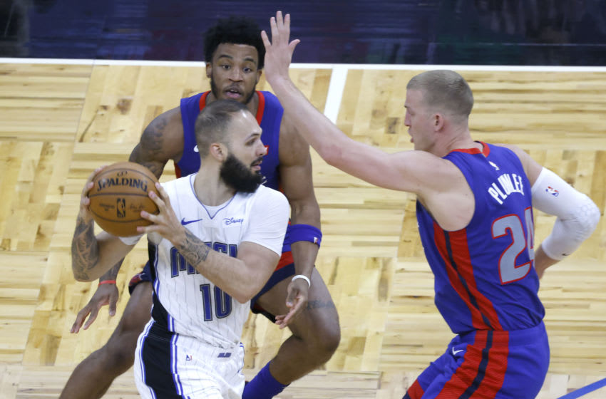 The Detroit Pistons swarmed the Orlando Magic and made it hard for them to operate in a frustrating Magic defeat. Mandatory Credit: Reinhold Matay-USA TODAY Sports