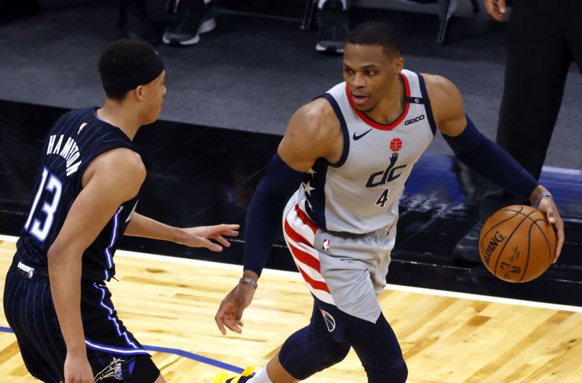 Russell Westbrook unlocked his All-Star mode to help the Washington Wizards race into the playoffs. Mandatory Credit: Kim Klement-USA TODAY Sports