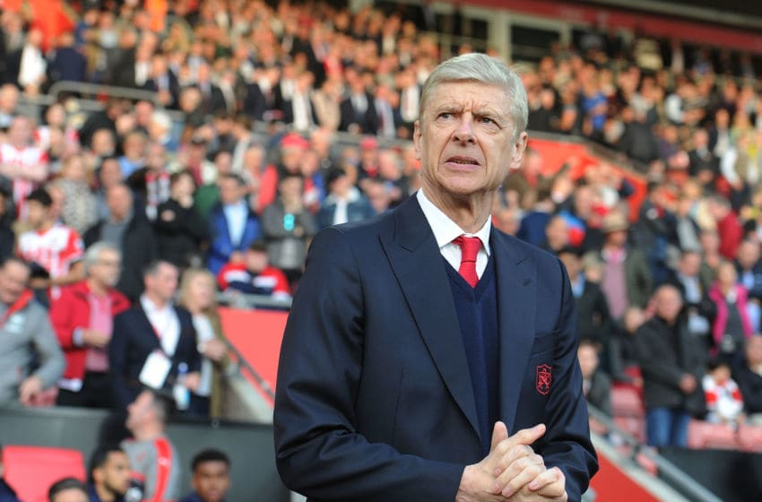 SOUTHAMPTON, ENGLAND - MAY 10: Arsenal manager Arsene Wenger the Premier League match between Southampton and Arsenal at St Mary's Stadium on May 10, 2017 in Southampton, England. (Photo by Stuart MacFarlane/Arsenal FC via Getty Images)