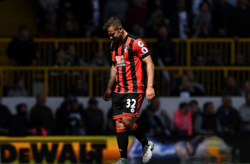 LONDON, ENGLAND - APRIL 15: Jack Wilshere of AFC Bournemouth walks off injured and is later subbed during the Premier League match between Tottenham Hotspur and AFC Bournemouth at White Hart Lane on April 15, 2017 in London, England. (Photo by Shaun Botterill/Getty Images)