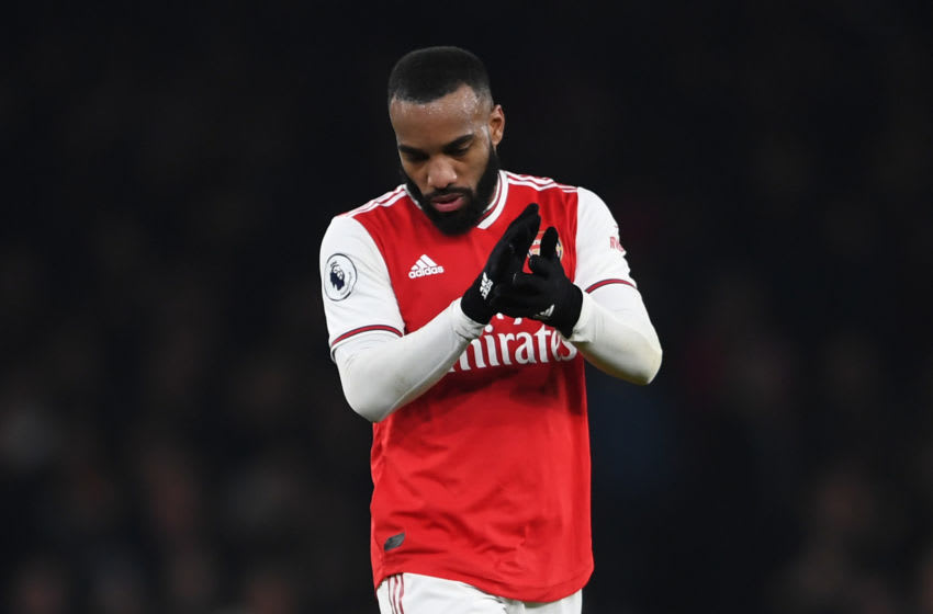 LONDON, ENGLAND - NOVEMBER 23: Alexandre Lacazette of Arsenal looks dejected following his team's defeat in the Premier League match between Arsenal FC and Southampton FC at Emirates Stadium on November 23, 2019 in London, United Kingdom. (Photo by Harriet Lander/Getty Images)