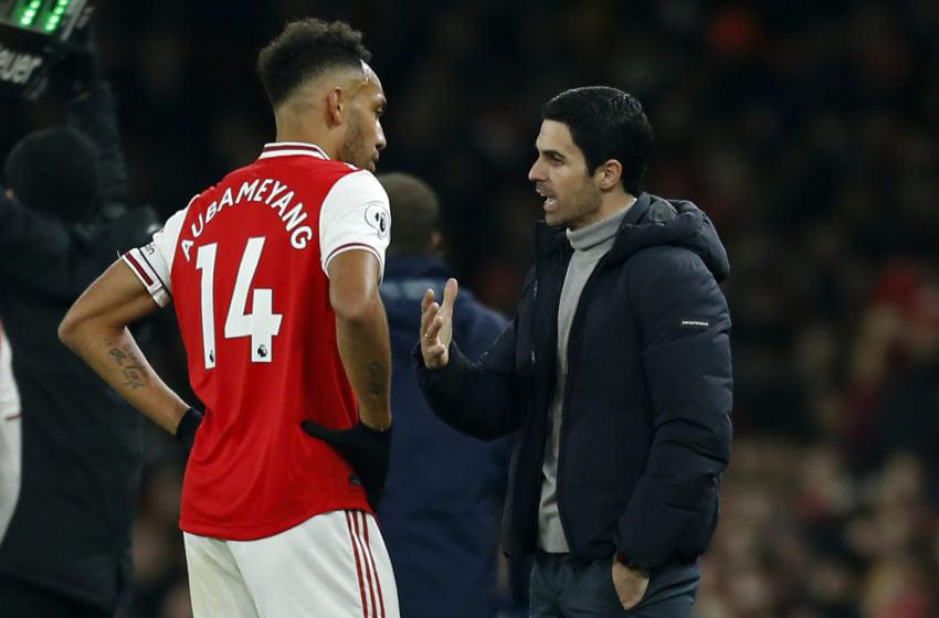 Arsenal, Pierre-Emerick Aubameyang, Mikel Arteta (Photo by IAN KINGTON/IKIMAGES/AFP via Getty Images)