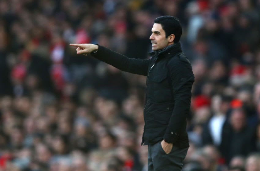 LONDON, ENGLAND - DECEMBER 29: Mikel Arteta, Manager of Arsenal reacts during the Premier League match between Arsenal FC and Chelsea FC at Emirates Stadium on December 29, 2019 in London, United Kingdom. (Photo by Julian Finney/Getty Images)