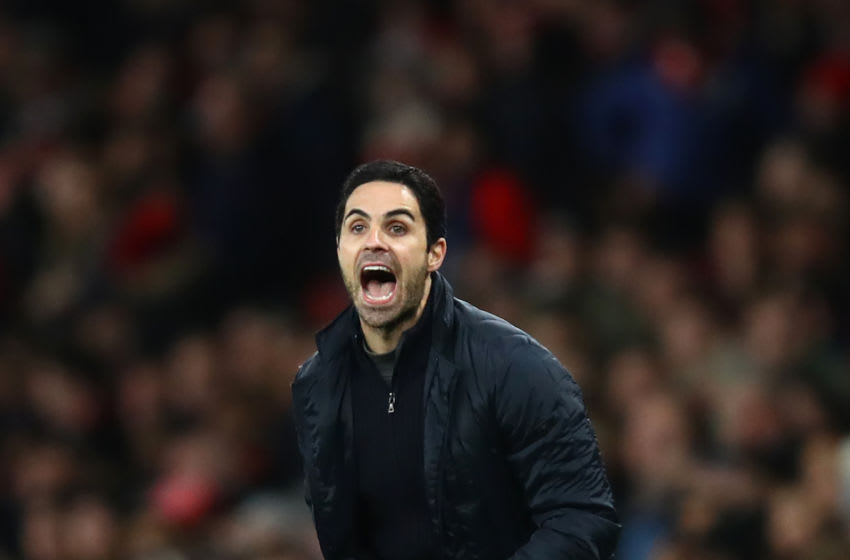 LONDON, ENGLAND - JANUARY 06: Mikel Arteta, Manager of Arsenal reacts during the FA Cup Third Round match between Arsenal FC and Leeds United at the Emirates Stadium on January 06, 2020 in London, England. (Photo by Julian Finney/Getty Images)