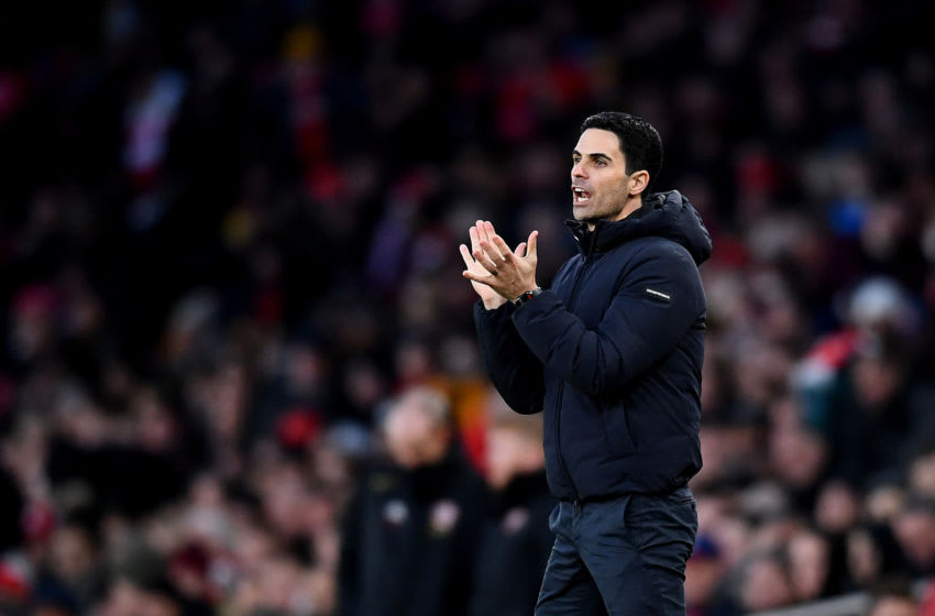LONDON, ENGLAND - JANUARY 18: Mikel Arteta, manager of Arsenal gesticulates during the Premier League match between Arsenal FC and Sheffield United at Emirates Stadium on January 18, 2020 in London, United Kingdom. (Photo by Clive Mason/Getty Images)