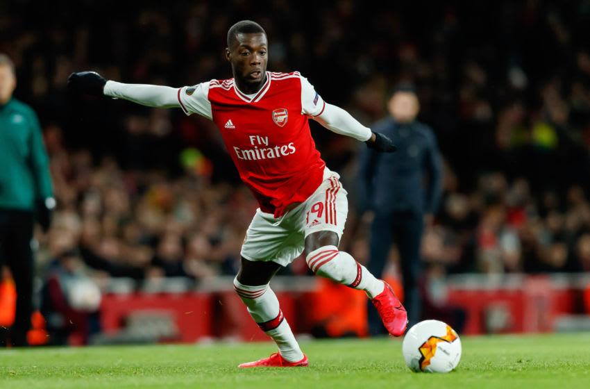 Arsenal, Nicolas Pepe (Photo by Roland Krivec/DeFodi Images via Getty Images)