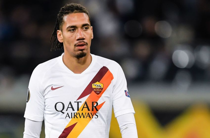 Chris Smalling of AS Roma during the UEFA Europa League round of 32 second leg match between KAA Gent v AS Roma at Ghelamco Arena on February 27, 2020 in Gent, Belgium(Photo by ANP Sport via Getty Images)