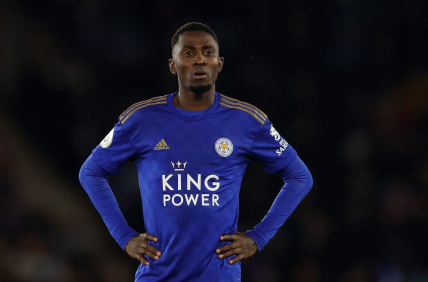 LEICESTER, ENGLAND - MARCH 09: Wilfred Ndidi of Leicester City during the Premier League match between Leicester City and Aston Villa at The King Power Stadium on March 9, 2020 in Leicester, United Kingdom. (Photo by James Williamson - AMA/Getty Images)
