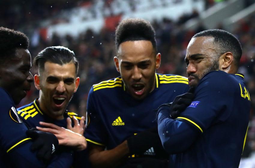 Arsenal, Alexandre Lacazette, Pierre-Emerick Aubameyang (Photo by Richard Heathcote/Getty Images)