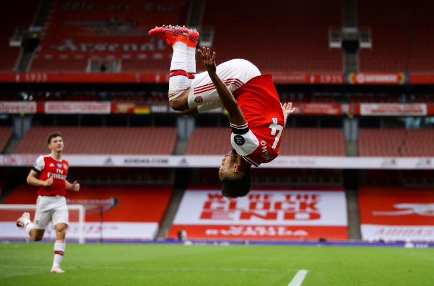Arsenal, Pierre-Emerick Aubameyang (Photo by RICHARD HEATHCOTE/POOL/AFP via Getty Images)
