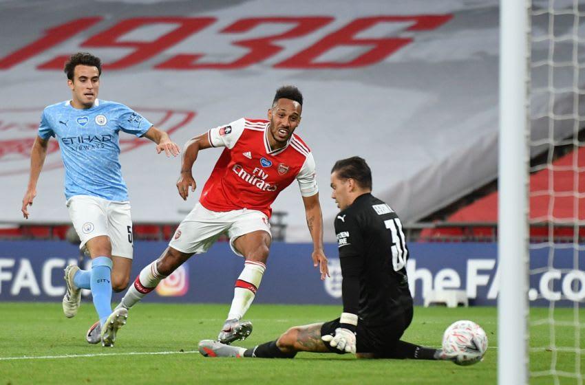 Arsenal, Pierre-Emerick Aubameyang (Photo by JUSTIN TALLIS/POOL/AFP via Getty Images)