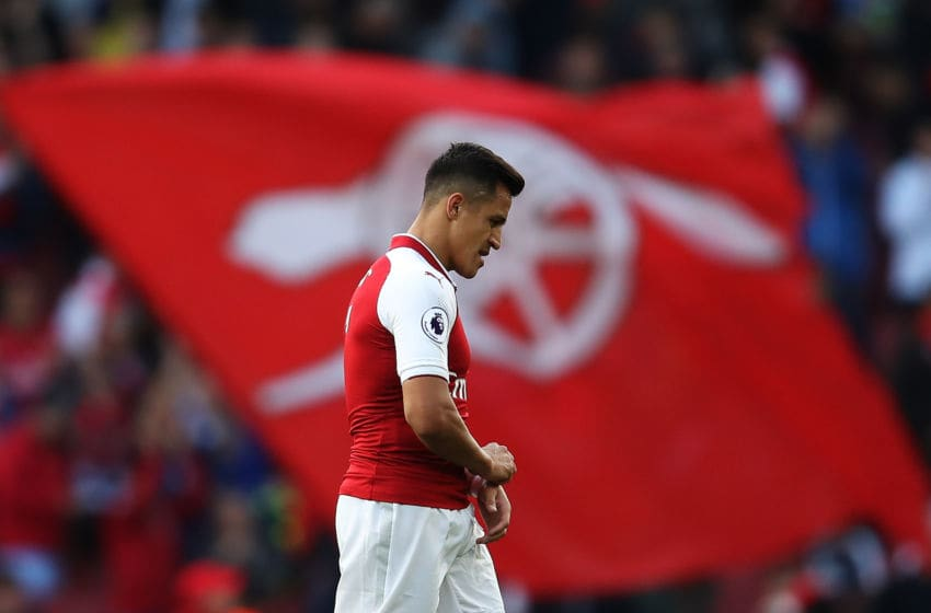 LONDON, ENGLAND - SEPTEMBER 09: Alexis Sanchez of Arsenal walks off after the Premier League match between Arsenal and AFC Bournemouth at Emirates Stadium on September 9, 2017 in London, England. (Photo by Julian Finney/Getty Images)