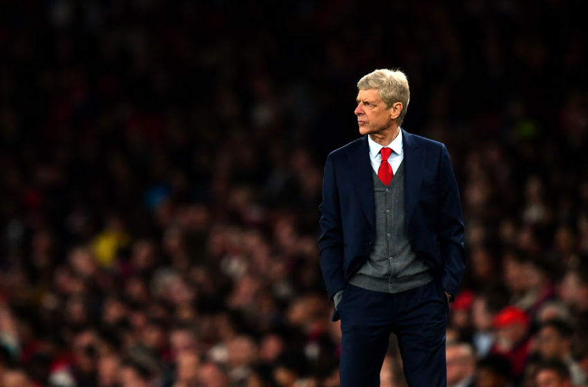 LONDON, ENGLAND - SEPTEMBER 20: Arsene Wenger, Manager of Arsenal looks on during the Carabao Cup Third Round match between Arsenal and Doncaster Rovers at Emirates Stadium on September 20, 2017 in London, England. (Photo by Dan Mullan/Getty Images)