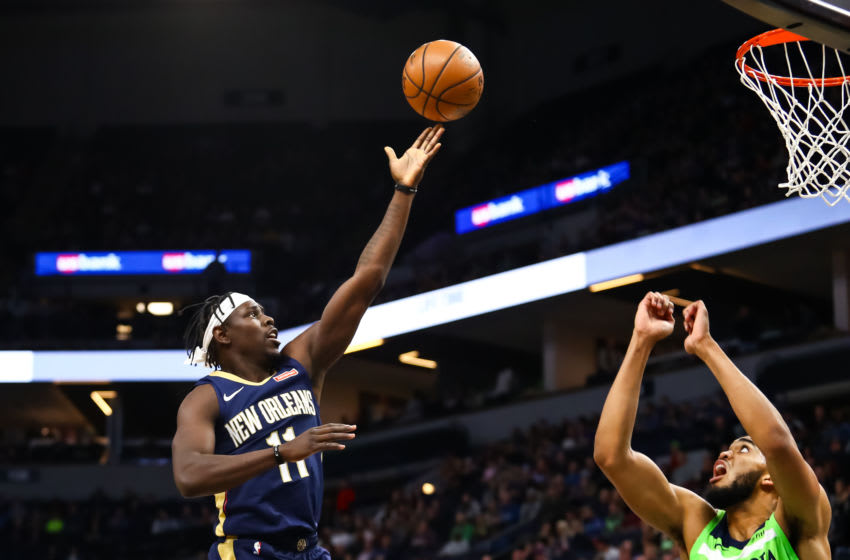 MINNEAPOLIS, MN - JANUARY 12: Jrue Holiday #11 of the New Orleans (Photo by David Berding/Getty Images)