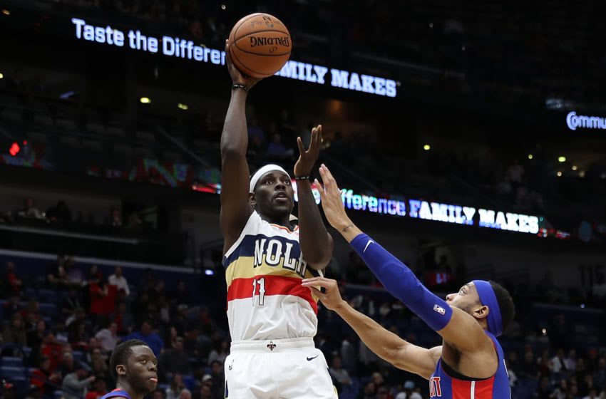 Jrue Holiday #11 of the New Orleans Pelicans shoots the ball over Bruce Brown (Photo by Chris Graythen/Getty Images)
