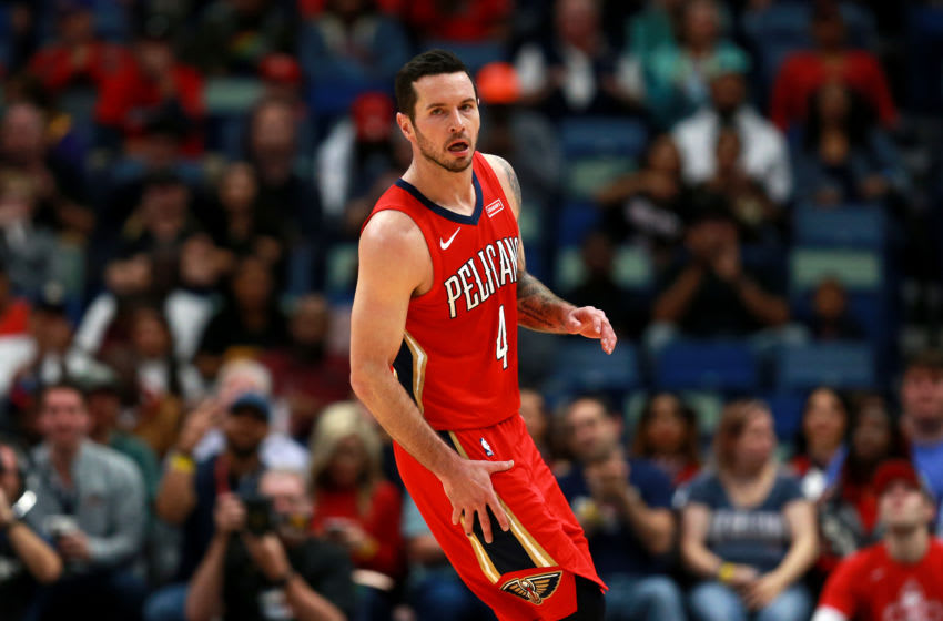 J Redick #4 of the New Orleans Pelicans (Photo by Sean Gardner/Getty Images)