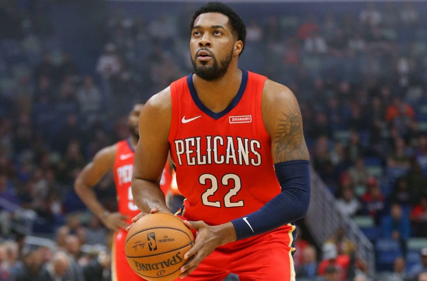 NEW ORLEANS, LOUISIANA - NOVEMBER 14: Derrick Favors #22 of the New Orleans Pelicans: (Photo by Jonathan Bachman/Getty Images)