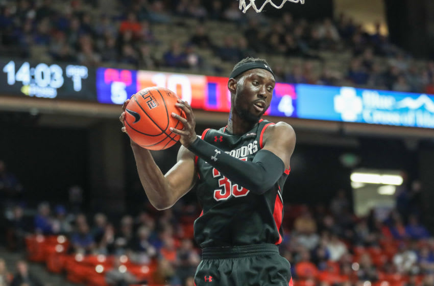 Lamine Diane could be a sleeper pick for the New Orleans Pelicans in the NBA draft. (Photo by Loren Orr/Getty Images)