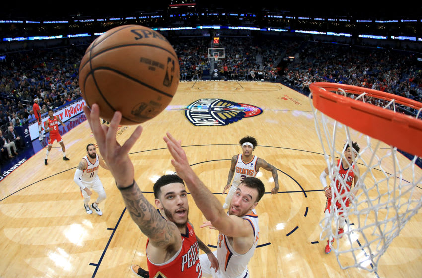 NEW ORLEANS, LOUISIANA - DECEMBER 05: Lonzo Ball #2 of the New Orleans Pelicans (Photo by Sean Gardner/Getty Images)