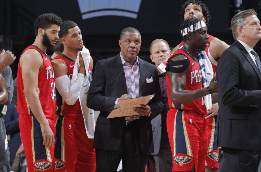 SACRAMENTO, CA - JANUARY 4: Head coach Alvin Gentry of the New Orleans Pelicans: (Photo by Rocky Widner/NBAE via Getty Images)