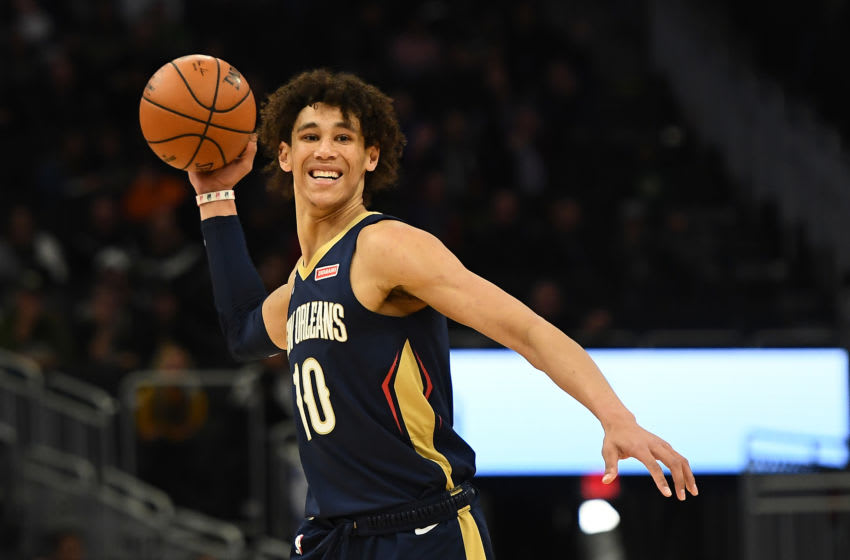 Jaxson Hayes #10 of the New Orleans Pelicans (Photo by Stacy Revere/Getty Images)