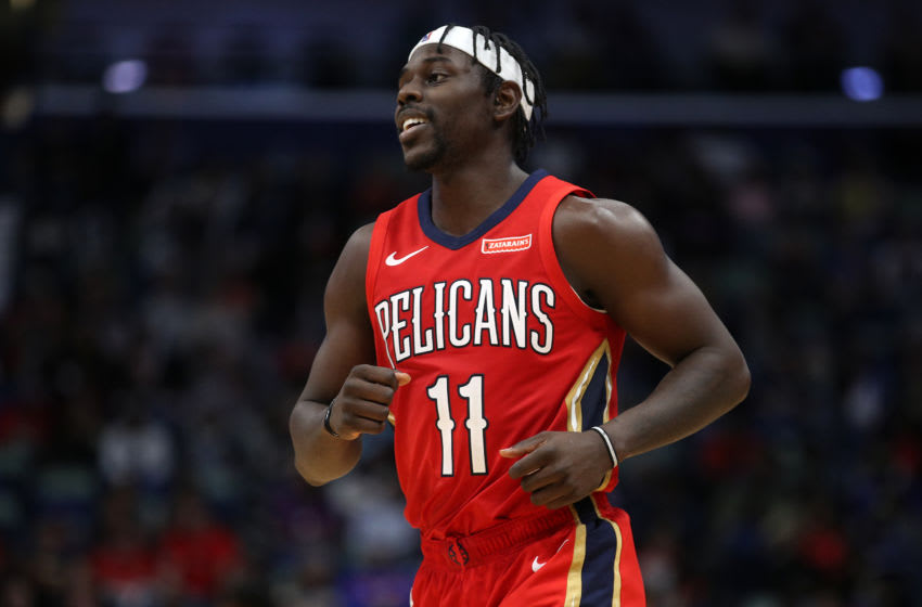 NEW ORLEANS, LOUISIANA - DECEMBER 28: Jrue Holiday #11 of the New Orleans Pelicans could be on the move come draft night. NOTE TO USER: User expressly acknowledges and agrees that, by downloading and/or using this photograph, user is consenting to the terms and conditions of the Getty Images License Agreement (Photo by Chris Graythen/Getty Images)