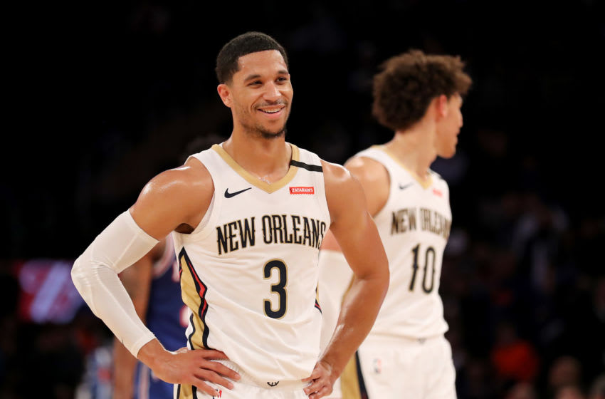 NEW YORK, NEW YORK - JANUARY 10: Josh Hart #3 of the New Orleans Pelicans: (Photo by Elsa/Getty Images)