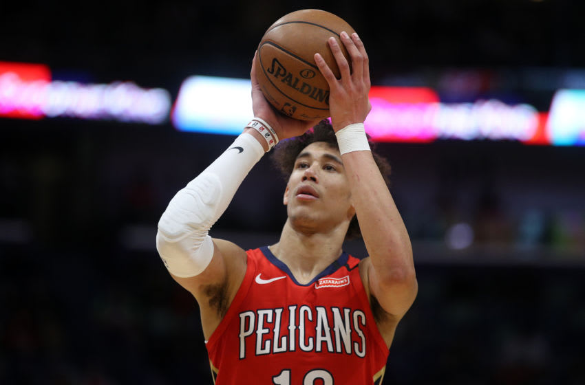 Jaxson Hayes #10 of the New Orleans Pelicans (Photo by Chris Graythen/Getty Images)