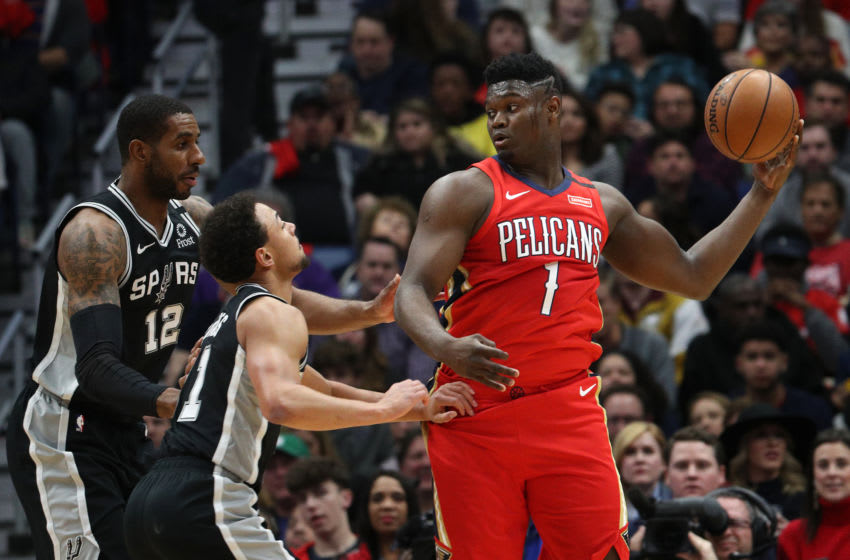 NEW ORLEANS, LOUISIANA - JANUARY 22: Zion Williamson #1 of the New Orleans Pelicans (Photo by Chris Graythen/Getty Images)