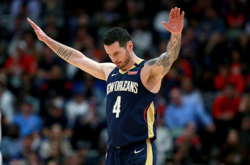 JJ Redick #4 of the New Orleans Pelicans (Photo by Sean Gardner/Getty Images)