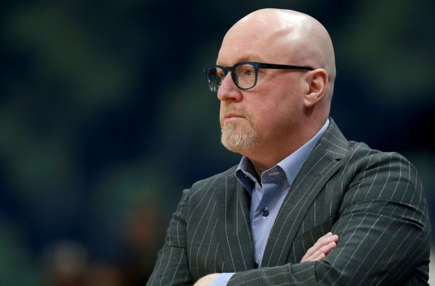 NEW ORLEANS, LOUISIANA - JANUARY 24: Vice President of basketball operations for the New Orleans Pelicans David Griffin now has pressure building to find the next head coach. (Photo by Sean Gardner/Getty Images)