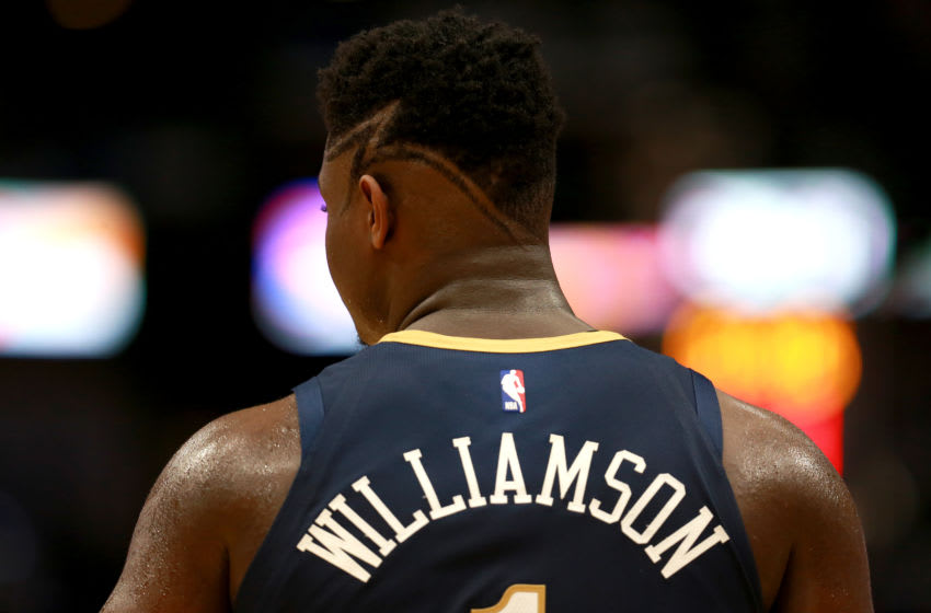 Zion Williamson #1 of the New Orleans Pelicans (Photo by Sean Gardner/Getty Images)