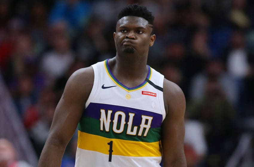 NEW ORLEANS, LOUISIANA - FEBRUARY 04: Zion Williamson #1 of the New Orleans Pelicans (Photo by Jonathan Bachman/Getty Images)