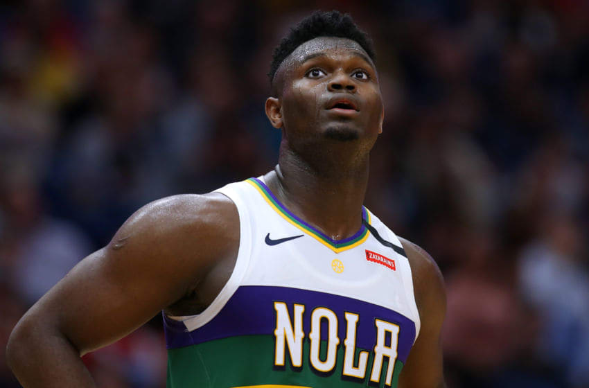 NEW ORLEANS, LOUISIANA - FEBRUARY 04: Zion Williamson #1 of the New Orleans Pelicans: (Photo by Jonathan Bachman/Getty Images)