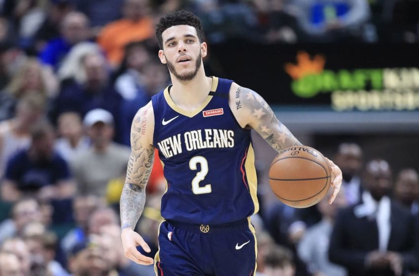 INDIANAPOLIS, INDIANA - FEBRUARY 08: Lonzo Ball #2 of the New Orleans Pelicans (Photo by Andy Lyons/Getty Images)