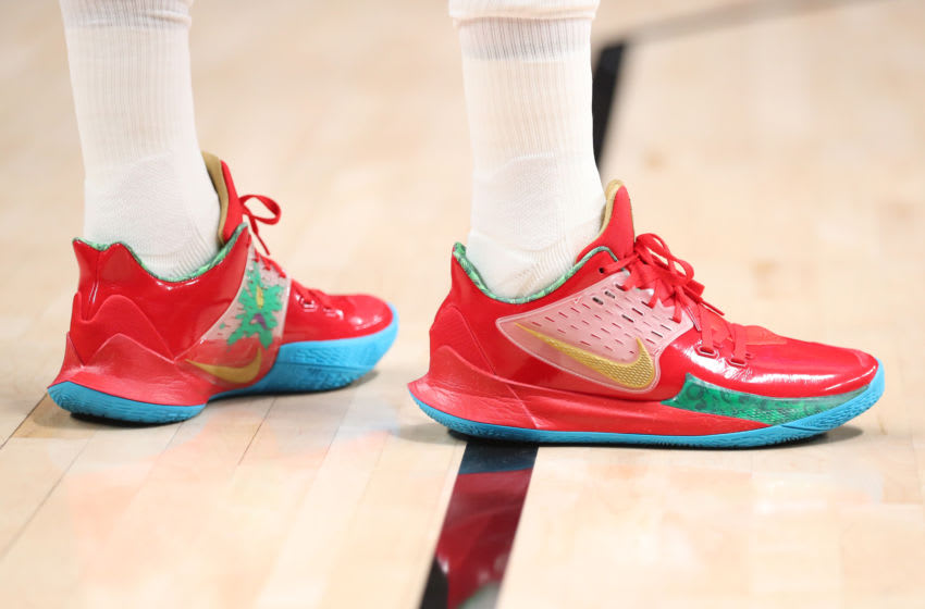 PORTLAND, OREGON - FEBRUARY 23: A detailed view of the Nike shoes worn by Mario Hezonja #44 of the Portland Trail Blazers (Photo by Abbie Parr/Getty Images)