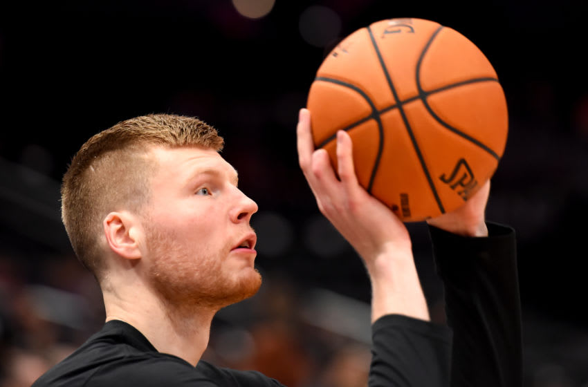 WASHINGTON, DC - FEBRUARY 26: Davis Bertans #42 of the Washington Wizards would fit in well with the New Orleans Pelicans (Photo by Will Newton/Getty Images)