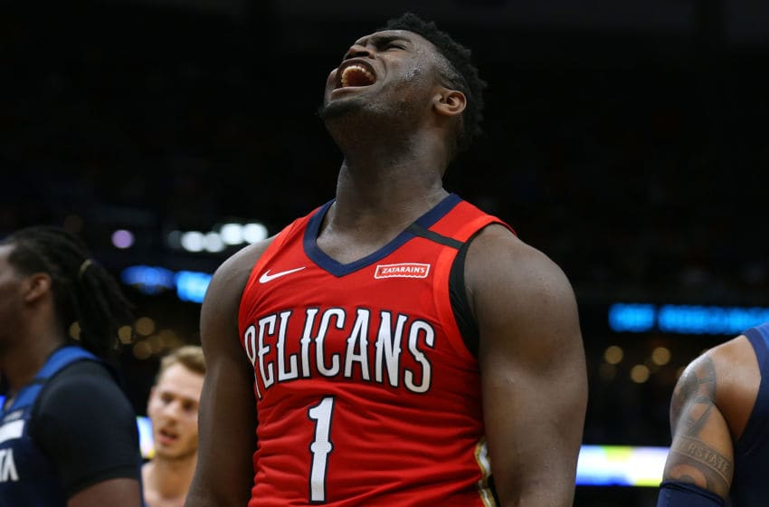 NEW ORLEANS, LOUISIANA - MARCH 03: Zion Williamson #1 of the New Orleans Pelicans (Photo by Jonathan Bachman/Getty Images)