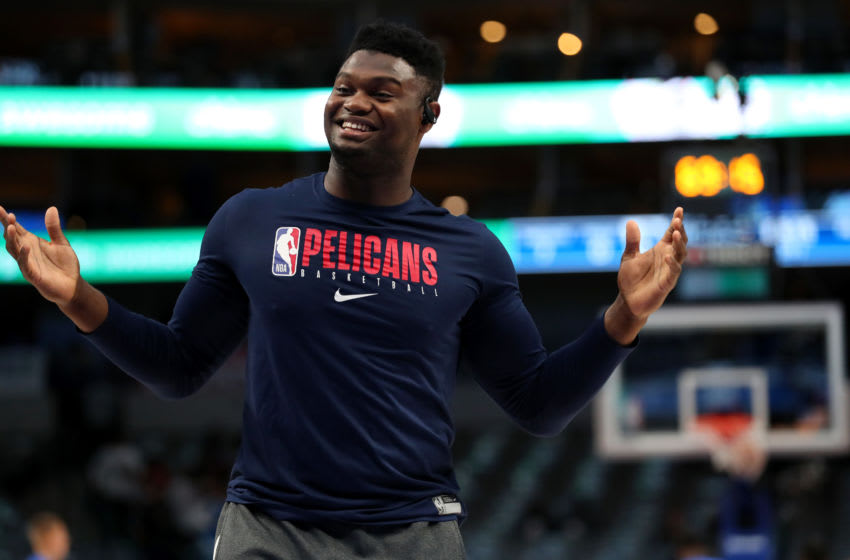 Zion Williamson #1 of the New Orleans Pelicans (Photo by Tom Pennington/Getty Images)