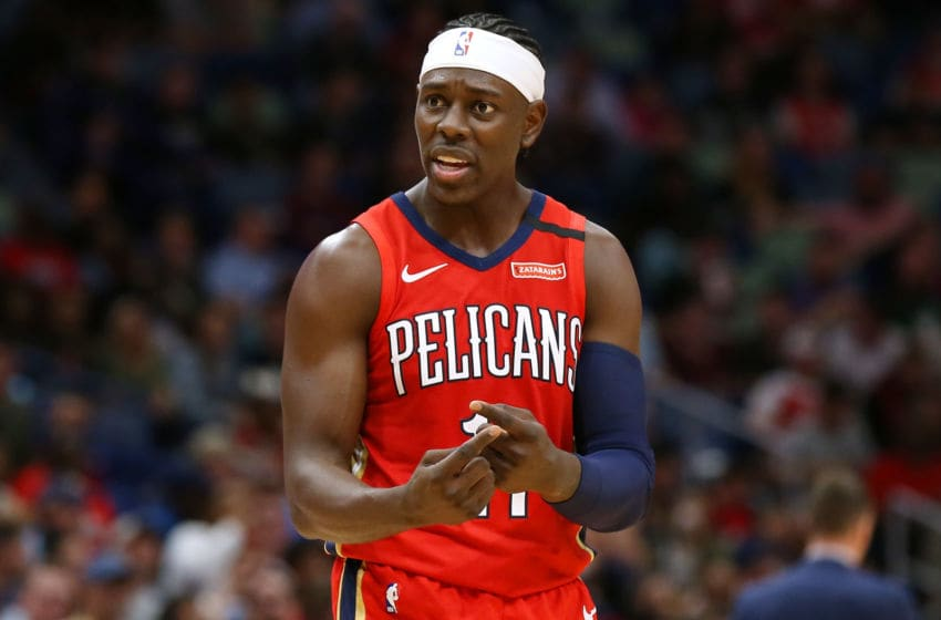 NEW ORLEANS, LOUISIANA - MARCH 03: Jrue Holiday #11 of the New Orleans Pelicans (Photo by Jonathan Bachman/Getty Images)