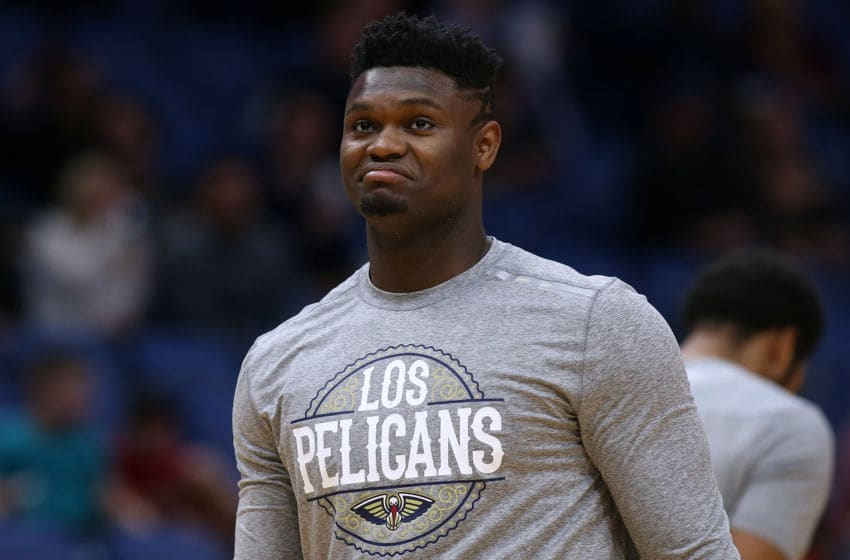 NEW ORLEANS, LOUISIANA - MARCH 06: Zion Williamson #1 of the New Orleans Pelicans (Photo by Jonathan Bachman/Getty Images)
