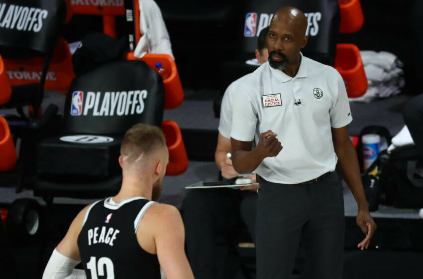 Head coach Jacque Vaughn of the Brooklyn Nets (Photo by Kim Klement-Pool/Getty Images)