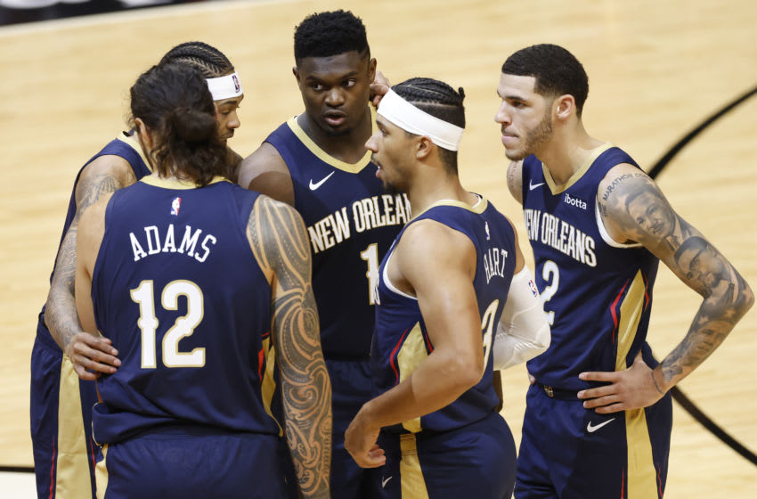 The New Orleans Pelicans could benefit from a second shutdown. (Photo by Michael Reaves/Getty Images)
