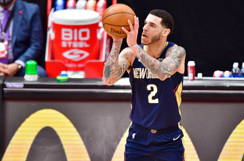 Lonzo Ball #2 of the New Orleans Pelicans (Photo by Julio Aguilar/Getty Images)