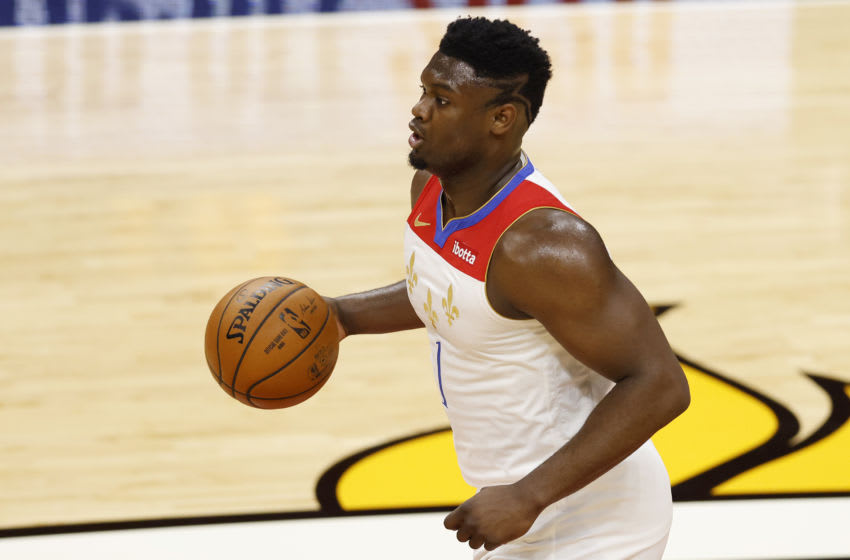 Zion Williamson #1 of the New Orleans Pelicans (Photo by Michael Reaves/Getty Images)