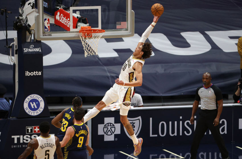 NEW ORLEANS, LOUISIANA - JANUARY 04: Jaxson Hayes #10 of the New Orleans Pelicans . (Photo by Chris Graythen/Getty Images)