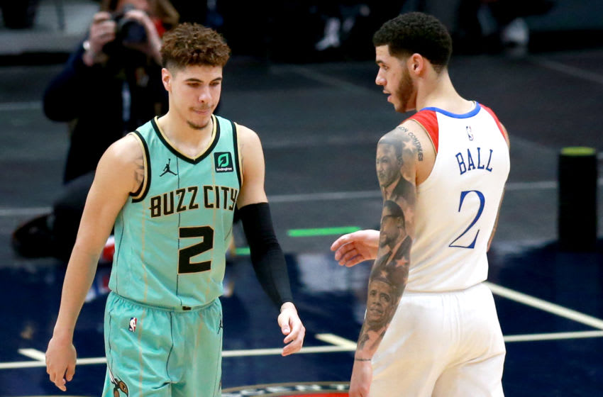 Lonzo Ball #2 of the New Orleans Pelicans and LaMelo Ball (Photo by Sean Gardner/Getty Images)