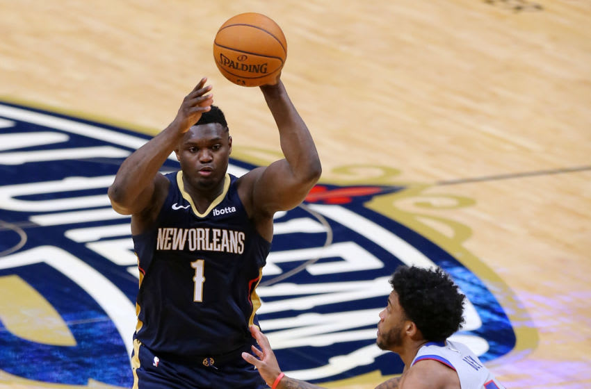 Zion Williamson #1 of the New Orleans Pelicans (Photo by Jonathan Bachman/Getty Images)