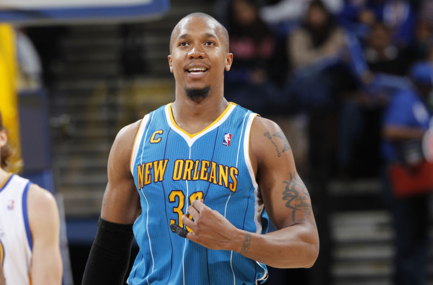 David West New Orleans Pelicans (Photo by Rocky Widner/NBAE via Getty Images)
