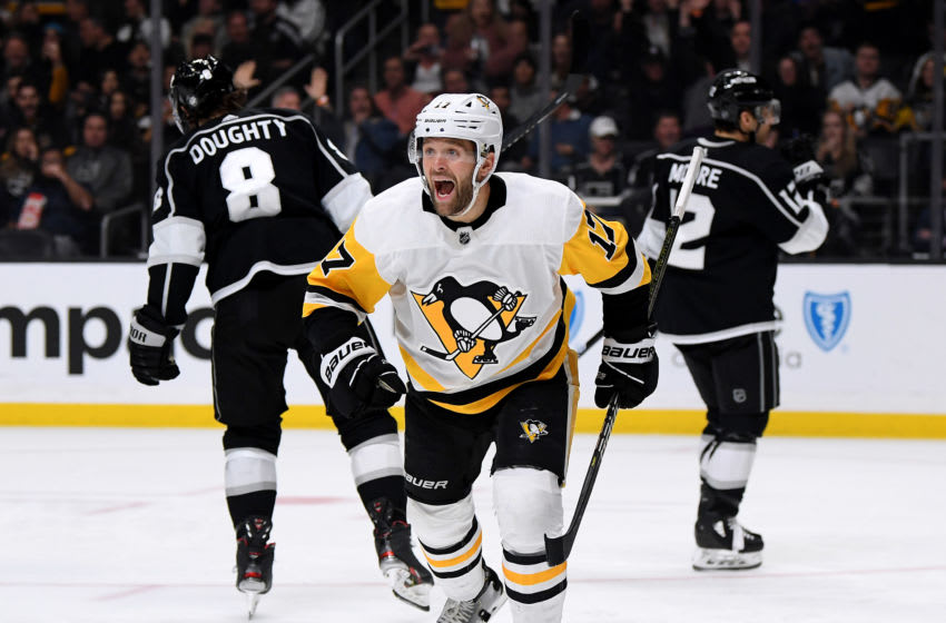 Bryan Rust #17 of the Pittsburgh Penguins. (Photo by Harry How/Getty Images)